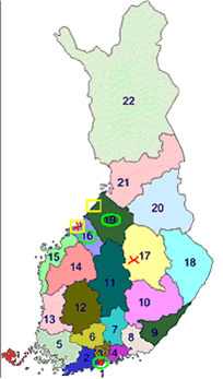 Kauris Suomen kartta