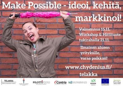 Make Possible - ideoi, kehitä, markkinoi!